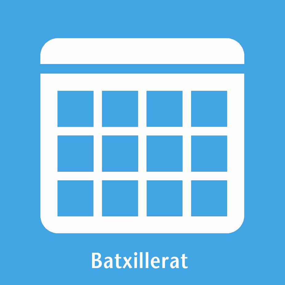 Icona calendari batxillerat